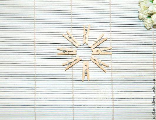 Другие виды рукоделия ручной работы. Ярмарка Мастеров - ручная работа. Купить Прищепки декоративные. Handmade. Белый, прищепка