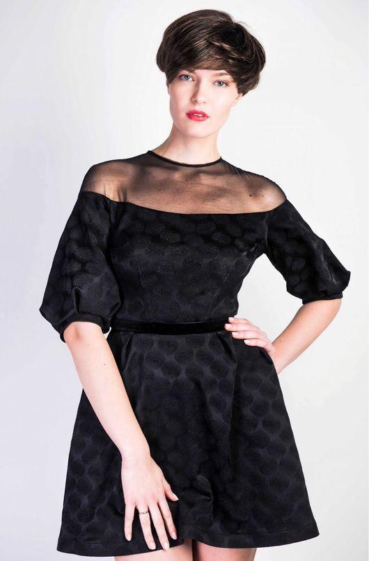 Платья ручной работы. Ярмарка Мастеров - ручная работа. Купить Платье Жозефина из чёрного жаккарда. Handmade. Платье, на новый год