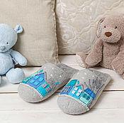 """Обувь ручной работы. Ярмарка Мастеров - ручная работа Тапочки """"Туманный город"""". Handmade."""