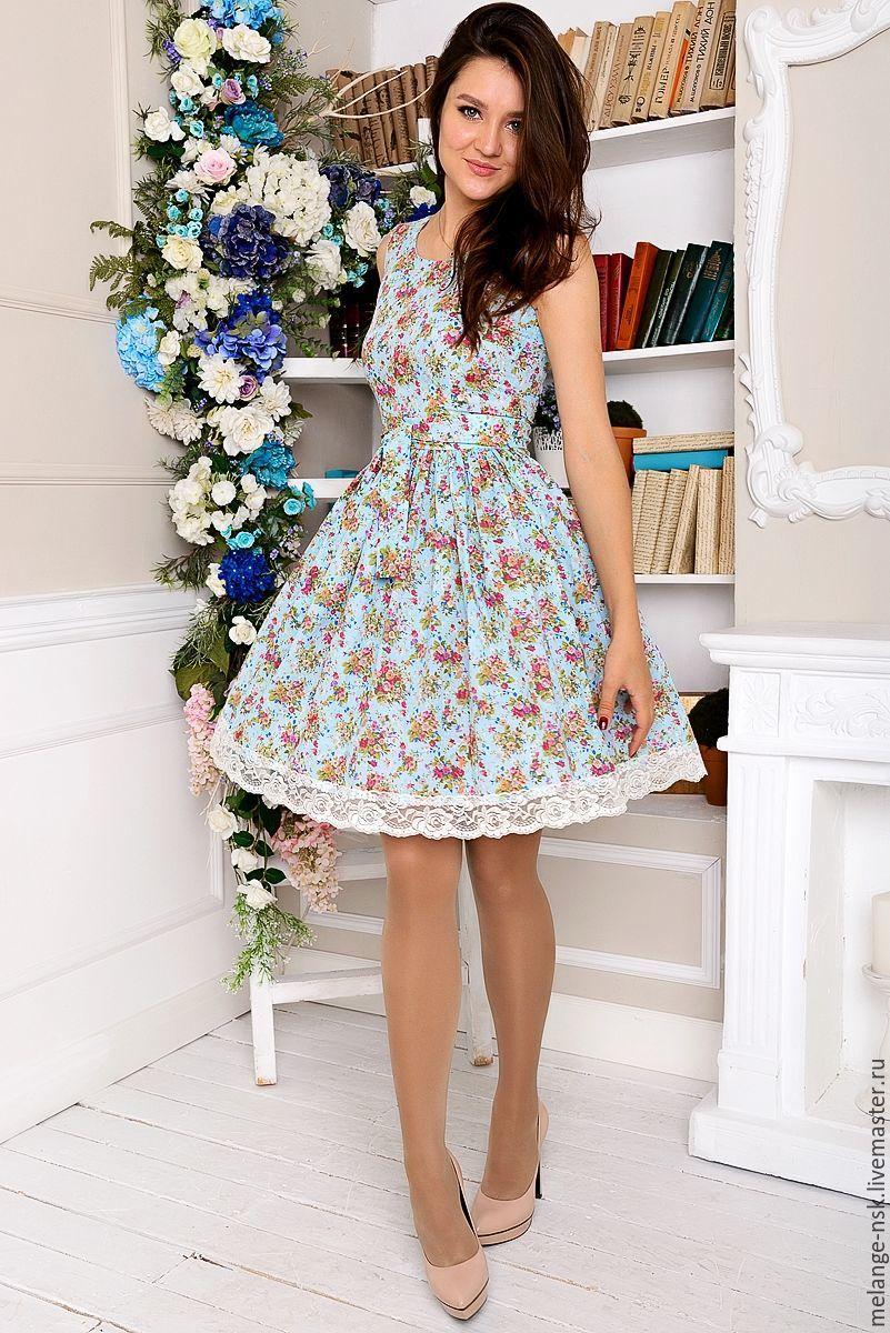 1305db79f8e Платья ручной работы. Ярмарка Мастеров - ручная работа. Купить Летнее  легкое платье из хлопка ...