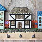 Для дома и интерьера handmade. Livemaster - original item Housekeeper Spring in the city 5.The housekeeper wall. decor polymer clay.. Handmade.