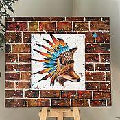 Картины и панно handmade. Livemaster - original item Indian Red.  Pop-art. Handmade.