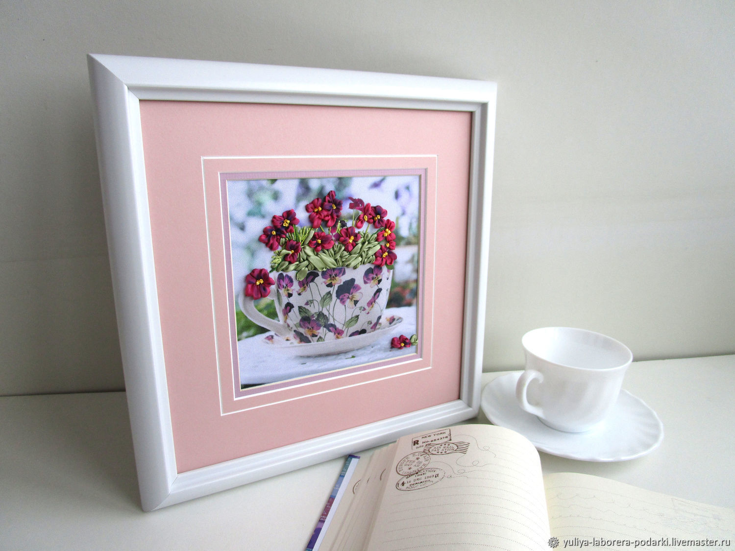 The painting 'bowl of flowers' (embroidery), Pictures, Nizhny Novgorod,  Фото №1
