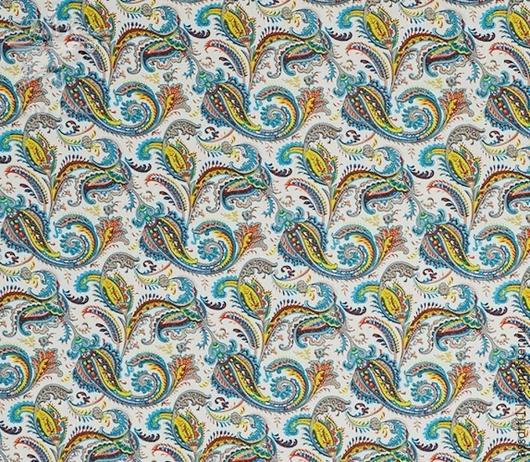 """Шитье ручной работы. Ярмарка Мастеров - ручная работа. Купить Штапель твил """"Пейсли на кремовом фоне"""".. Handmade. Ткань компаньон"""
