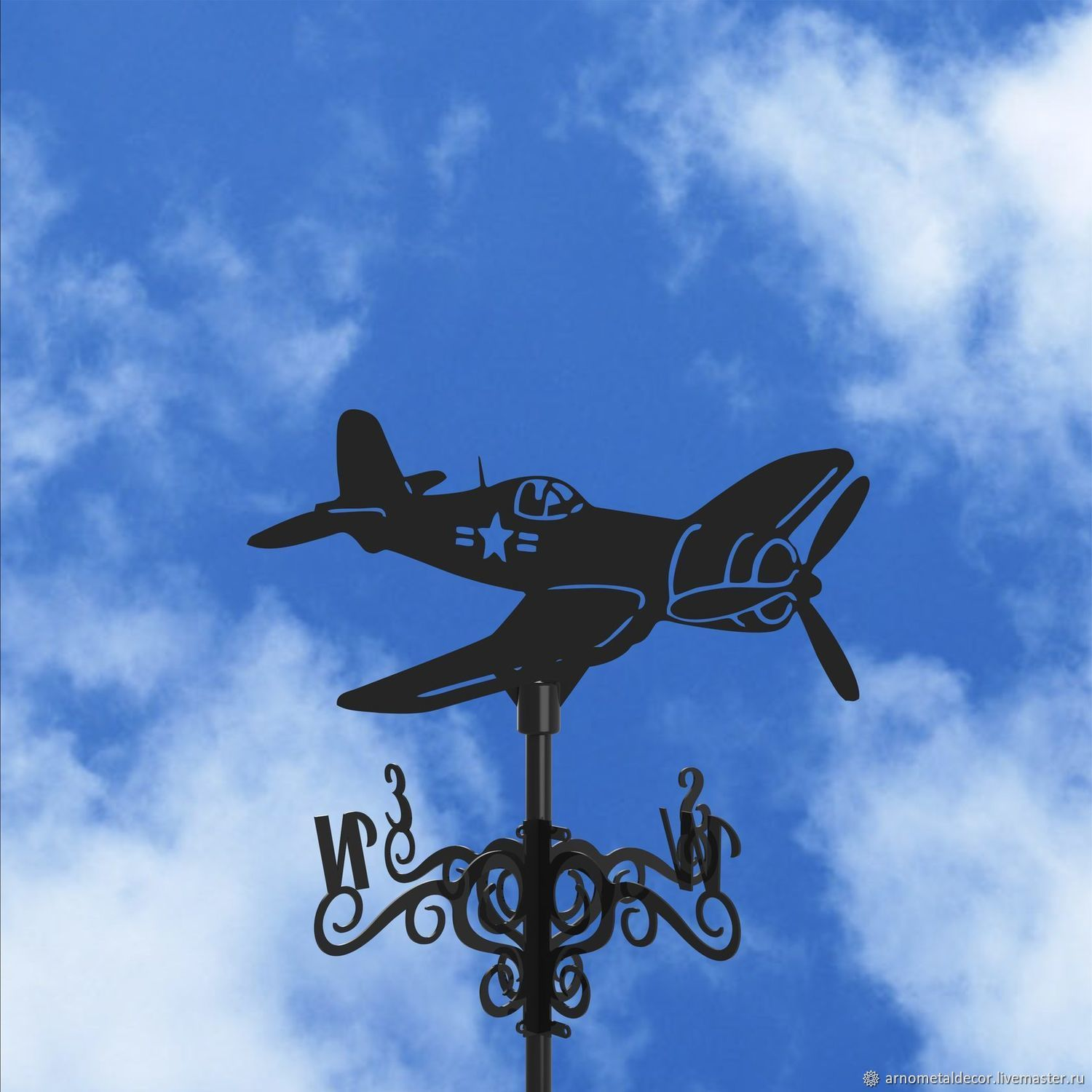Weather vane on the roof ' Airplane', Vane, Ivanovo,  Фото №1