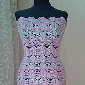 Одежда ручной работы. Ярмарка Мастеров - ручная работа Ажурное розовое платье. Handmade.