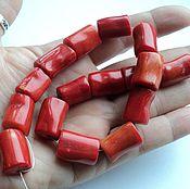 Материалы для творчества handmade. Livemaster - original item Coral large tube of 15-18mm. Handmade.