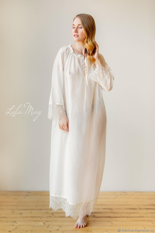 db7890b207aa Ночная сорочка FEERIE длинная из батиста – купить в интернет-магазине на  Ярмарке ...
