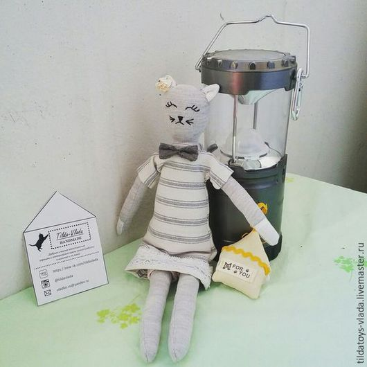 Игрушки животные, ручной работы. Ярмарка Мастеров - ручная работа. Купить Текстильная кошка. Handmade. Детская игрушка, интерьерная игрушка