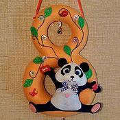Для дома и интерьера ручной работы. Ярмарка Мастеров - ручная работа Цифра с пандой. Handmade.
