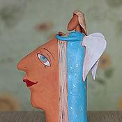 """Для дома и интерьера ручной работы. Ярмарка Мастеров - ручная работа Скульптура """"Ангел в ее голове"""". Handmade."""