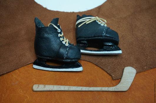 Одежда для кукол ручной работы. Ярмарка Мастеров - ручная работа. Купить Хоккейные коньки для куклы. Handmade. Коньки, хоккей