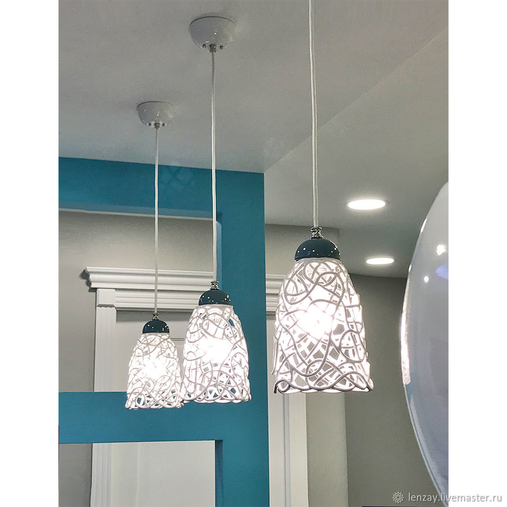 Sea foam-ceramic lamp on suspension, Ceiling and pendant lights, Moscow,  Фото №1