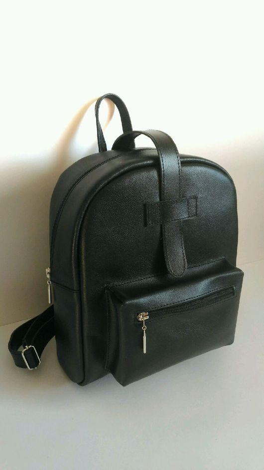 """Рюкзаки ручной работы. Ярмарка Мастеров - ручная работа. Купить Рюкзак из натуральной кожи """"Black"""". Handmade. Рюкзак, кожа натуральная"""