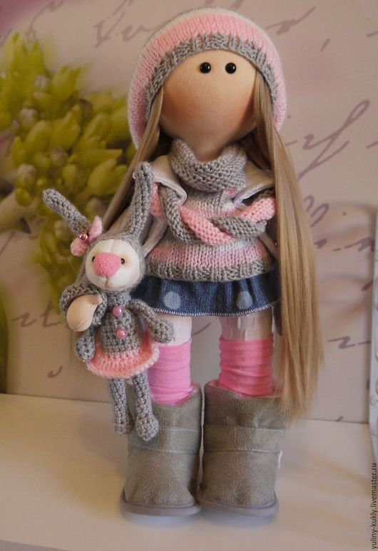 Коллекционные куклы ручной работы. Ярмарка Мастеров - ручная работа. Купить Текстильная куколка Дженни. Handmade. Серый, стёганая ткань