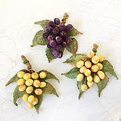 Украшения handmade. Livemaster - original item Grape brooch. Handmade.