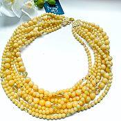 Украшения handmade. Livemaster - original item Necklace made of yellow jade and citrine