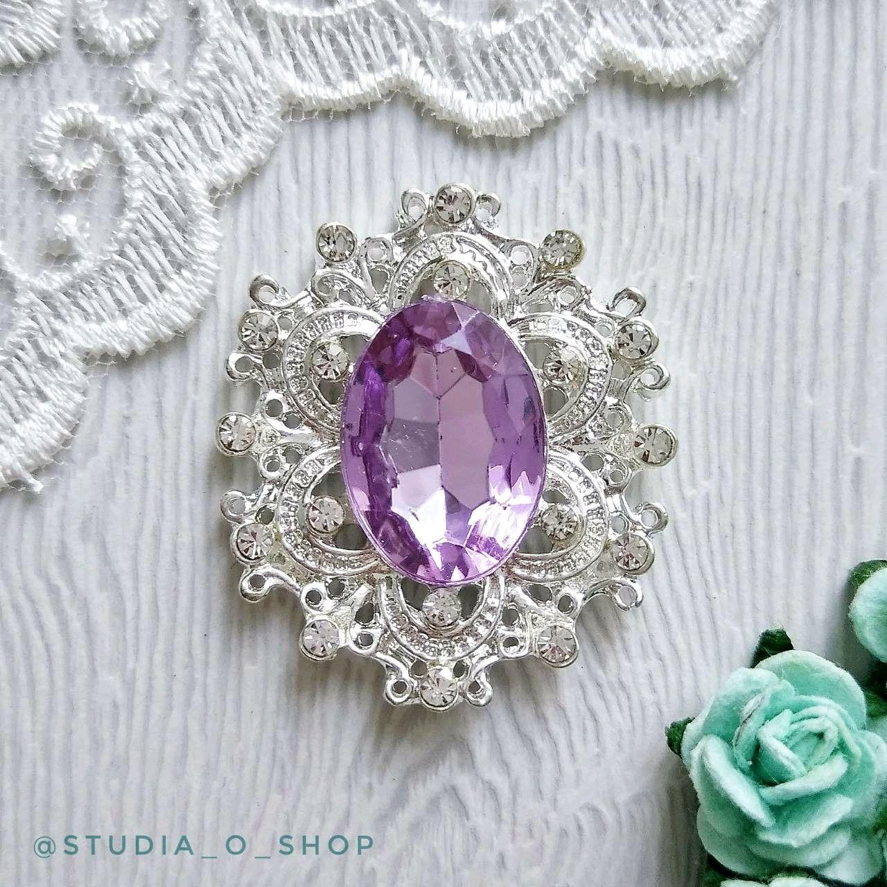 Ажурный овал. lt.purple, Элементы для скрапбукинга, Челябинск,  Фото №1