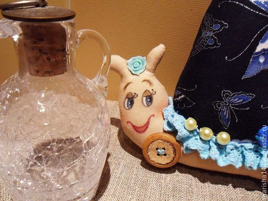 Куклы Тильды ручной работы. Ярмарка Мастеров - ручная работа. Купить Улитки Тильда (голубое кружево). Handmade. Улитка