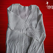 Одежда ручной работы. Ярмарка Мастеров - ручная работа Белый женственный  кардиган. Handmade.