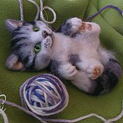 Куклы и игрушки handmade. Livemaster - original item Kitty Persen felted wool. Handmade.