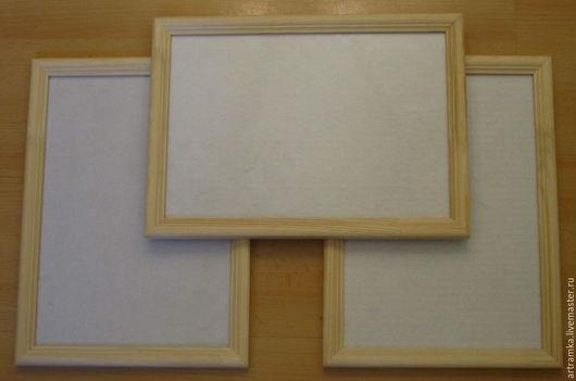 Недорогие некрашеные деревянные рамки со стеклом