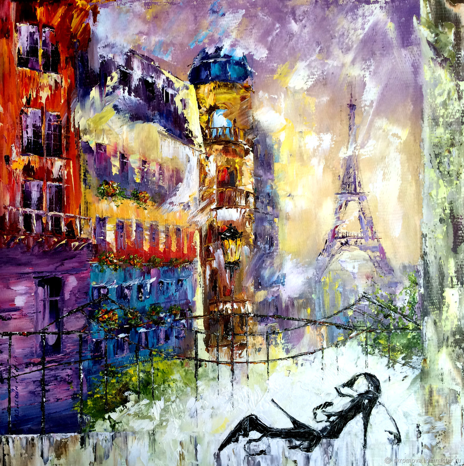 Oil painting is a Window to Paris, Pictures, Moscow,  Фото №1
