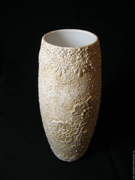 """Вазы ручной работы. Ярмарка Мастеров - ручная работа. Купить Ваза """"Холодная свежесть"""". Handmade. Белый, ваза для цветов, ретро"""