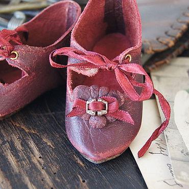 """Куклы и игрушки ручной работы. Ярмарка Мастеров - ручная работа Обувь для Антикварной куклы """"Vintage French"""". Handmade."""