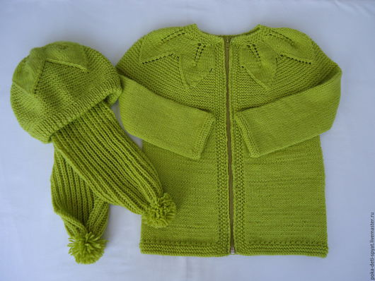 Одежда для девочек, ручной работы. Ярмарка Мастеров - ручная работа. Купить Кофточка детская и шапочка с шарфиком на ребенка двух лет.. Handmade.