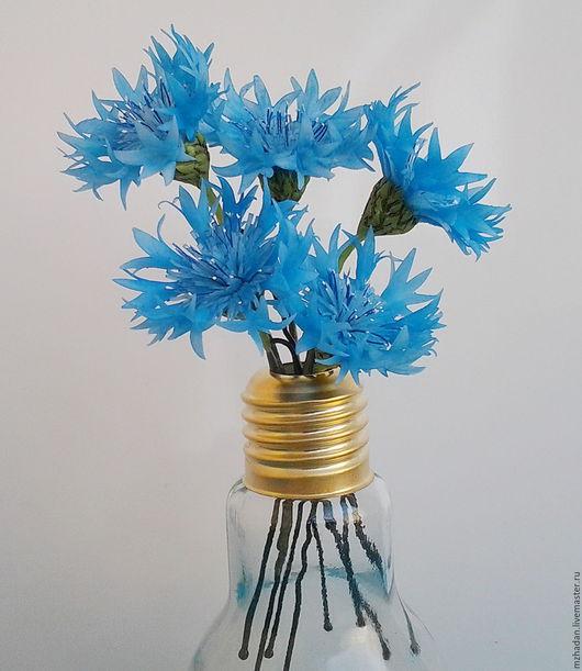 Шпильки-Васильки, Шпильки для волос, Шпильки с цветами,авторская ручная работа,цветы из полимерной глины