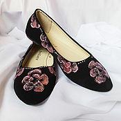 Обувь ручной работы handmade. Livemaster - original item Ballet flats with painted
