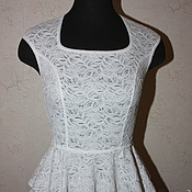 Одежда handmade. Livemaster - original item Lace blouse with peplum. Handmade.
