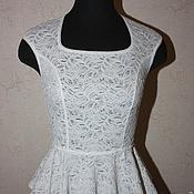 Одежда ручной работы. Ярмарка Мастеров - ручная работа Кружевная блузка с баской. Handmade.