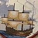 """Пейзаж ручной работы. Заказать Вышивка крестом. Картина """"Корабль в море"""". Ирина. Ярмарка Мастеров. Вышивка крестом, корабль в море"""