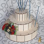 Дизайн и реклама handmade. Livemaster - original item Soporte-escaparate de dulces en varitas de tambor. Handmade.