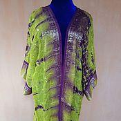 Одежда ручной работы. Ярмарка Мастеров - ручная работа Шелковый халат с вышивкой. Handmade.