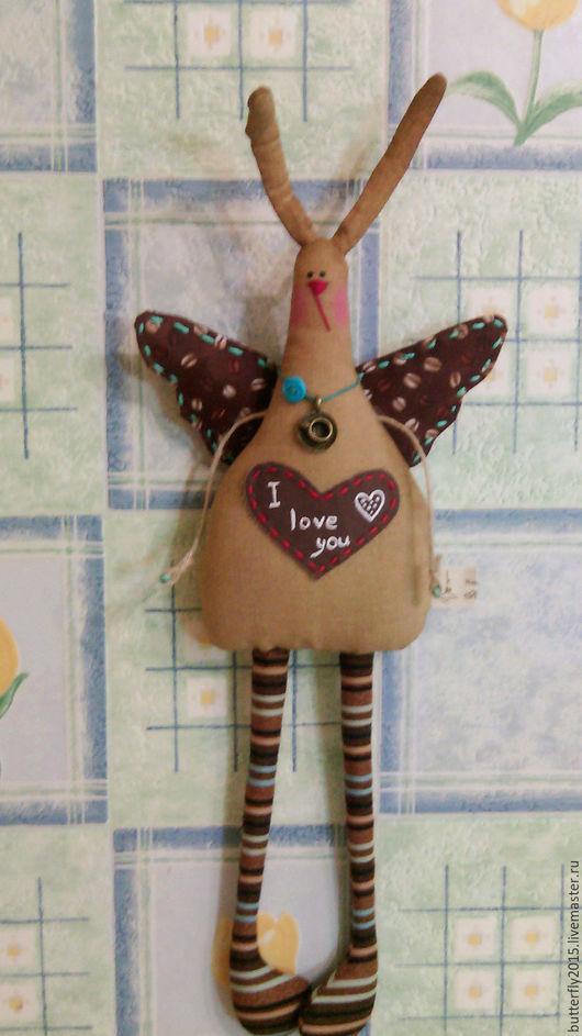Куклы и игрушки ручной работы. Ярмарка Мастеров - ручная работа. Купить coffee Bunny. Handmade. Коричневый, кролик, Пасха, кофе