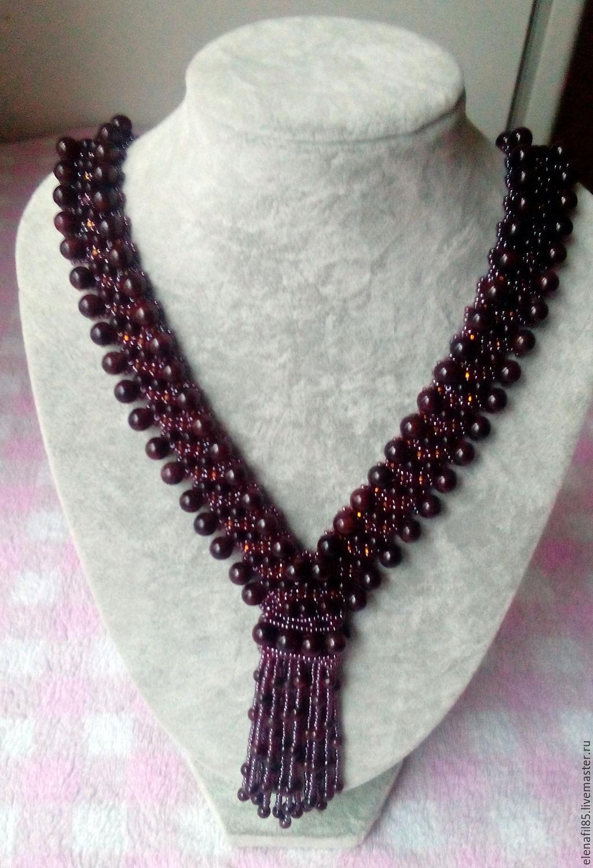 Necklace Tie Garnet, Necklace, Moscow,  Фото №1