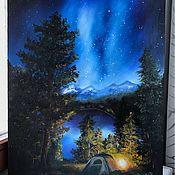 """Картины ручной работы. Ярмарка Мастеров - ручная работа Картина """"Под звездами"""". Handmade."""