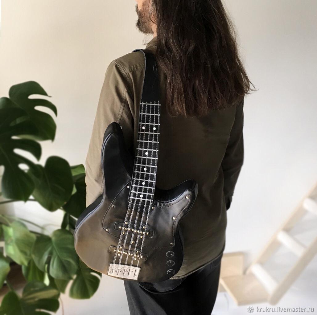 Сумка Бас Гитара Гибсон из кожи или эко кожи, Классическая сумка, Москва,  Фото №1