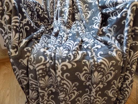 Текстиль, ковры ручной работы. Ярмарка Мастеров - ручная работа. Купить Плед из микрофибры. Handmade. Плед, постельные принадлежности, пейсли