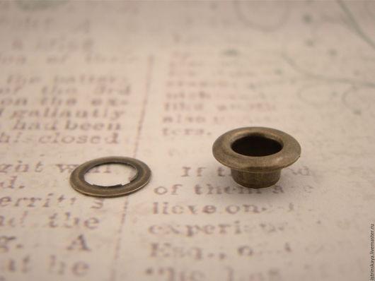 Другие виды рукоделия ручной работы. Ярмарка Мастеров - ручная работа. Купить Люверс 6 мм антик. Handmade. Серебряный