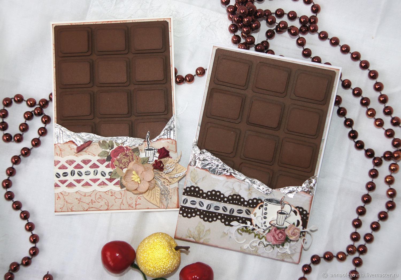 Открытка с конфетами и шоколадом 628