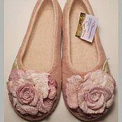 """Обувь ручной работы. Ярмарка Мастеров - ручная работа Тапочки валяные """"Нежность"""". Handmade."""