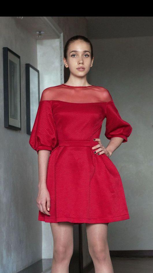 Платья ручной работы. Ярмарка Мастеров - ручная работа. Купить Платье Жозефина из красного жаккарда. Handmade. Красное платье