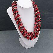 Украшения handmade. Livemaster - original item Fur necklace made of beads