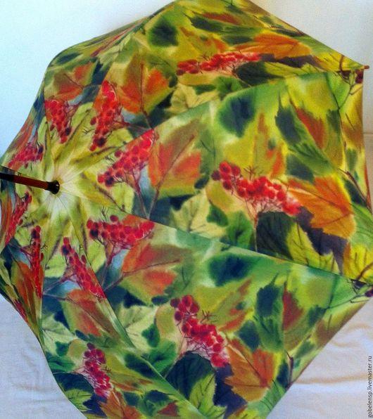 Зонты ручной работы. Ярмарка Мастеров - ручная работа. Купить КАЛИНА авторский зонтик. Handmade. Авторская работа, красный, зонтик
