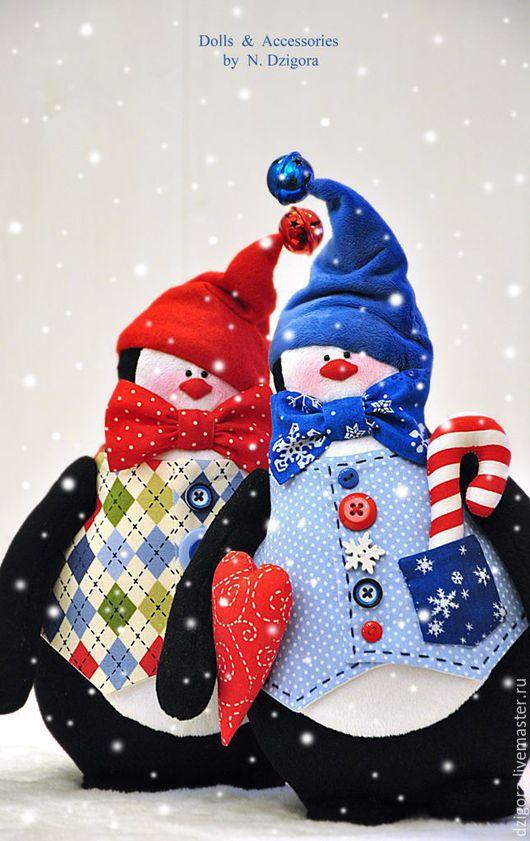 Игрушки животные, ручной работы. Ярмарка Мастеров - ручная работа. Купить Эник и Бэник - приятели пингвины. Новогодний подарок. Handmade.