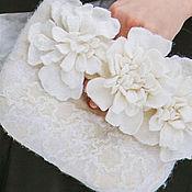 """Свадебный салон ручной работы. Ярмарка Мастеров - ручная работа Сумочка клатч  для невесты """"Белые пионы"""". Handmade."""